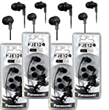 Panasonic RP-HJE120 ErgoFit in-Ear Headphones Stereo Earbuds (4-Pack,...
