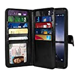 NEXTKIN Case Compatible with ZTE Zmax Pro Carry Z981, Leather Dual Wallet Folio TPU Cover, 2 Large...