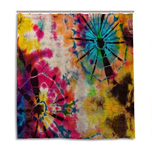 My Daily Vintage Batik-Duschvorhang 152,4 x 183,9 cm wasserdichter Polyester-Stoff Badezimmer-Vorhang mit Haken