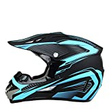 TRIPERSON Dirt Bike Off-Road Motocross ATV Motorcycle Helmet for Men Women,professional competition helmet DOT Certified (Blue, X-Large)