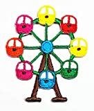 Mini Cute Ferris Wheel Iron Sew On Embroidered Applique for Clothes Backpacks T-Shirt Jeans Skirt Vests Scarf Hat Bag Patch Children Kids Stickers Embroidery (03)