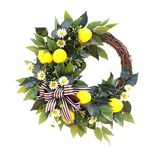 JYCAR Guirnaldas artificiales de flores de 19.7 pulgadas con baya de limón, guirnalda de limón sintético, colgante de primavera, granja de fruta, para decoración de pared de mesa de boda