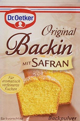 Dr. Oetker Backin mit Safran, 18er Pack (18 x 3 x 16 g)