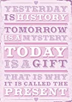 YESTERDAY IS HISTORY TOMORROW IS A MYSTERY ティンサイン ポスター ン サイン プレート ブリキ看板 ホーム バーために