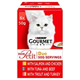 Gourmet Mon Petit Cat Food Pouches Duo Mixed 6x50 g