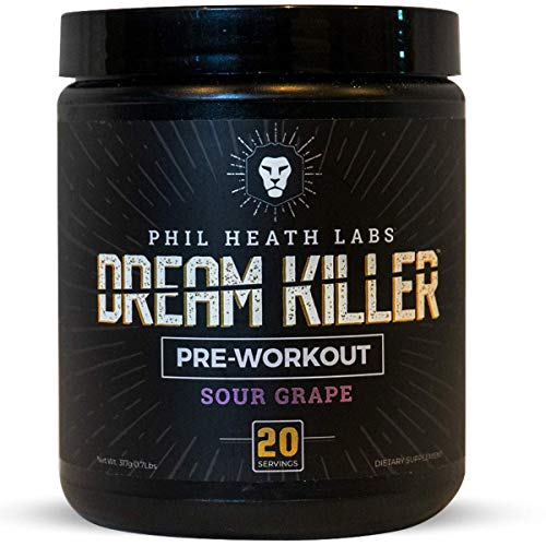 Phil Heath Labs All Natural DreamKiller Preworkout | Supplement for Energy Pump & Focus - Teacrine Creatine Beta Alanine Caffeine | 20 Servings