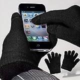 yayago Touchscreen Handschuhe Schwarz Universalgröße (ca. S – M) – für Lenovo Phab 2 Pro
