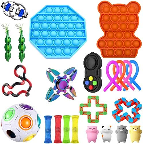 Wangy Sensory Toys Set, Fidget Toys for Kids and Adults, Stress Relief for Kids and Adults, Special Toys Assortment for Birthday Party Favors