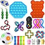 Wangy 23 packs Sensory Toys Set, Fidget Toys for Kids and Adults, Stress Relief for Kids and Adults, Special Toys Assortment for Birthday Party Favors (G)