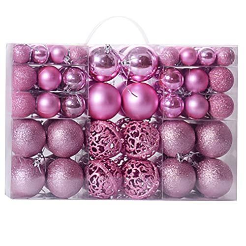 NUOBESTY 100 peças de enfeites de bolas de Natal à prova de estilhaçamento, pingente de árvore de Natal, decoração festiva para pendurar