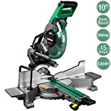 Metabo HPT 10-Inch Sliding Miter Saw | Zero Rear Clearance Slide System | Dual Bevel |...