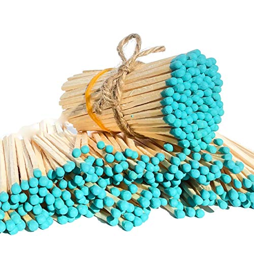 100 Craft Color Matches Bundle (3.75 inches) - Wholesale Bulk Safety Matches (Teal, 100 Matches)