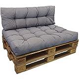 DILUMA | Cojín de Respaldo Largo 120x40 cm Gris | Cojín Confort para sofás palés Repelente a Las...