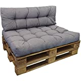 DILUMA Cojin para palés Confort - Cojin de Asiento o Respaldo para sofás palets - Repelente a Las...
