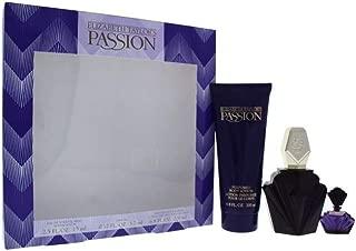 Passion 3 Pc. Gift Set ( Eau De Toilette Spray 2.5 Oz + Body Lotion 6.7 Oz + Parfum Miniature )
