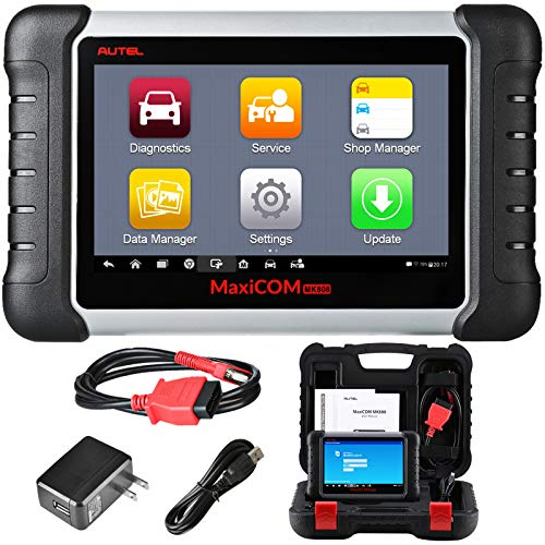 [2021] Autel Scanner Maxicom MK808 OBD2 Diagnostic Scan Tool, OE-Level All System Diagnosis, 25 Hot Service with IMMO, Oil Reset, EPB, BMS, SAS, DPF, ABS Bleed, Upgraded of MaxiCheck Pro and MD802