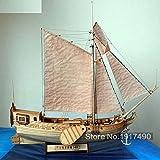 SIourso Maquetas Barcos Madera Kit De Modelo De Barco Hobby De Tren Modelo De Barco De Madera Escala De Corte Láser 3D 1/80 Royal Netherlands Yacht and Boats DIY Kits De Modelos De Yates