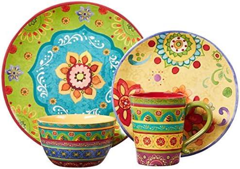 Colorful dinnerware set _image1