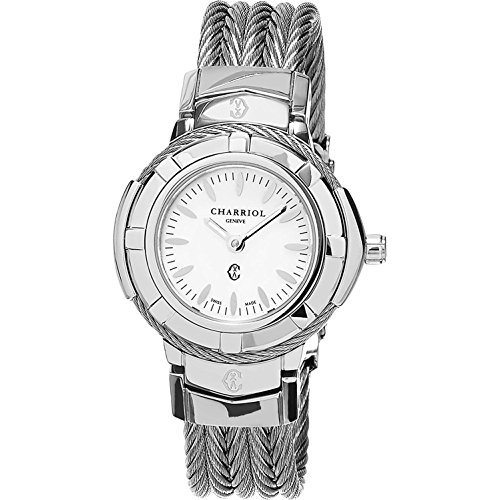 Charriol Women's Celtic Swiss-Quartz Watch with Stainless-Steel Strap, Silver, 12 (Model: CE426S640005