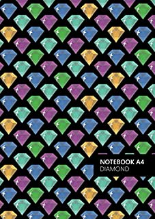 Diamond Notebook - A4: (Neon Dark Edition) Fun notebook 192 lined pages (A4 / 8.27x11.69 inches / 21x29.7cm)