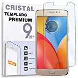 REY Protector de Pantalla para Motorola Moto E4 Plus, Cristal Vidrio Templado Premium