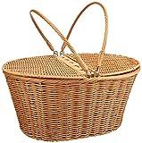 Kovot Picnic Baskets | Measures 16' x 13.5' x 7.5' | for Picnics, Parties and BBQs (Poly-Wicker)