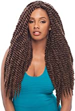 "Janet Collection Noir 2X Mambo Twist Braid 24"" Color 1(Jet Black)"