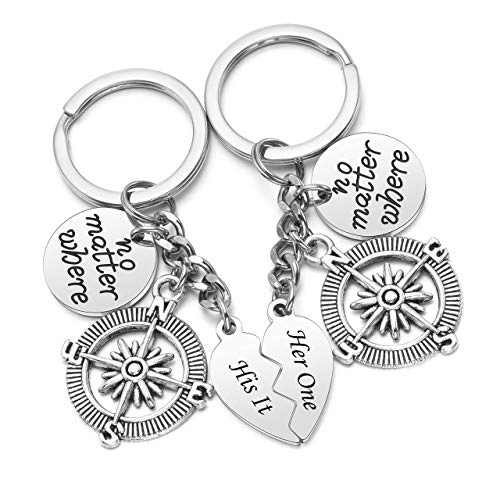 Zysta 2Pcs Personalised Keyrings for Mum Mothers Day Gifts from Daughter Free Engraved Text Message Custom keyring for Women Cute Christmas Birthday Gifts Jewelry Keychain