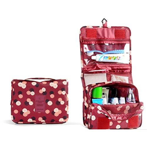 Pixnor laver sac étanche suspendre Wash Sac à main stockage vacances Trousse de maquillage cosmétiques RS Sac de toilette Pouch Organisateur de Voyage