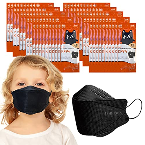 Kids Unisex Age 8-15 Breathable Individually Packed (Pack of 100 Black)