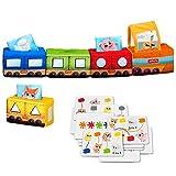 MACIK Tren Juguetes de Desarrollo - Colores Formas Lógica - Juguete de...