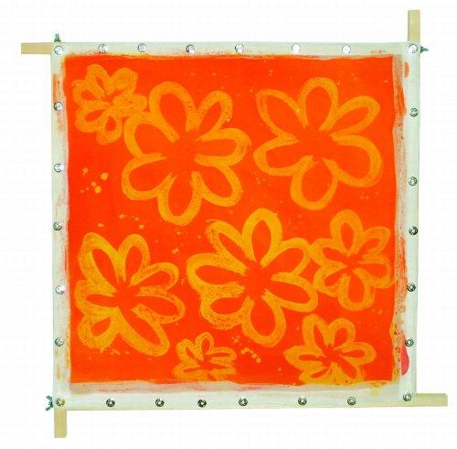 Kreul 810550 - Javana Spannrahmen, maximale Spannfläche ca. 50 x 50 cm, zum flexiblen Aufspannen von Seide und Textilien