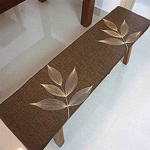 erddcbb Cojines Largos Transpirables para Silla Mecedora, cojín de Banco Columpio Relleno para Interior y Exterior Esponja rellena para Muebles de Patio Almohadillas para sillas C 35x160cm (14x63in)