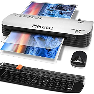 Merece Laminator - 4 in 1 A4 Thermal Laminator Machine, Personal Laminator for Home Use School Teachers Office Card Classroom, 9 Inches Small Hot Cold Lamination Machine with 30 Laminating Pouches