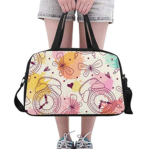 ZHANGhome Xl Large Duffel Bag Creative Fashion Cute Home Clock Yoga Gym Totes Fitness Handbags Duffel Bags Shoe Pouch For Sport Luggage Womens Outdoor Male Shoulder Bag