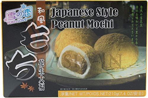 Yuki & Love Japoński styl orzech ziemny Mochi, ciasto ryżowe 210 g (6 x 35 g)
