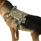 EXCELLENT ELITE SPANKER ハーネス 犬 ナイロン製 犬 服 ミリタリー 訓練 散歩 犬 ハーネス 中型犬 ハーネス 引っ張り防止 犬 ハーネス 大型犬 調整可能 ハーネス 中型犬 ペット用品-(MCP-M)