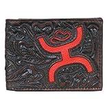 HOOey Western Wallet Men Bifold Signature Tooled Slots Brown Leather