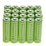 20 AA Rechargeable Batteries NiMH 3000mAh 1.2v Garden Solar Ni-MH Light LED US