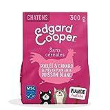 Edgard & Cooper Croquettes Chaton Adulte Sans Cereales Nourriture Naturelle 300g Poulet Canard et Poisson Frais, Alimentation Saine Savoureuse et Équilibrée, Protéines de Qualité Supérieure