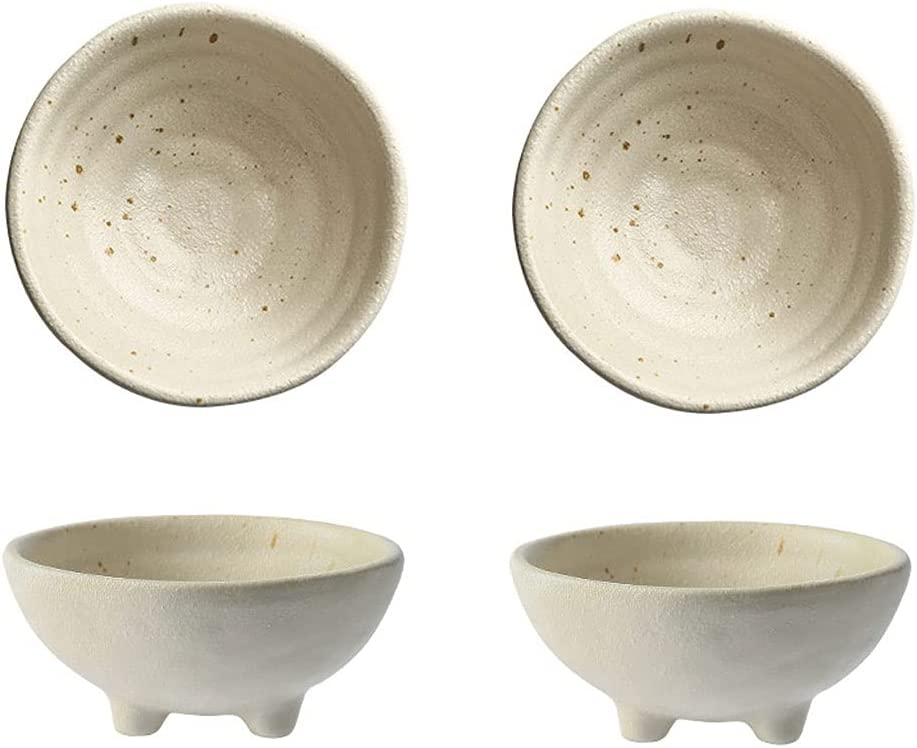 Seasoning Dishes 2Pack Sauce High material Dish Ceramic Retro Appetizer Pl excellence Set