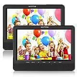 WONNIE Lecteur DVD Portable Voiture 10.1' Double Affichage 4 Heures Support de...