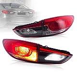 VLAND Luces traseras para Mazda 6 Pre-facelift sedán 2013-2017 (no para camioneta de 5 puertas; sin luz antiniebla), conjunto de luces traseras LED DRL, lados del conductor y del pasajero