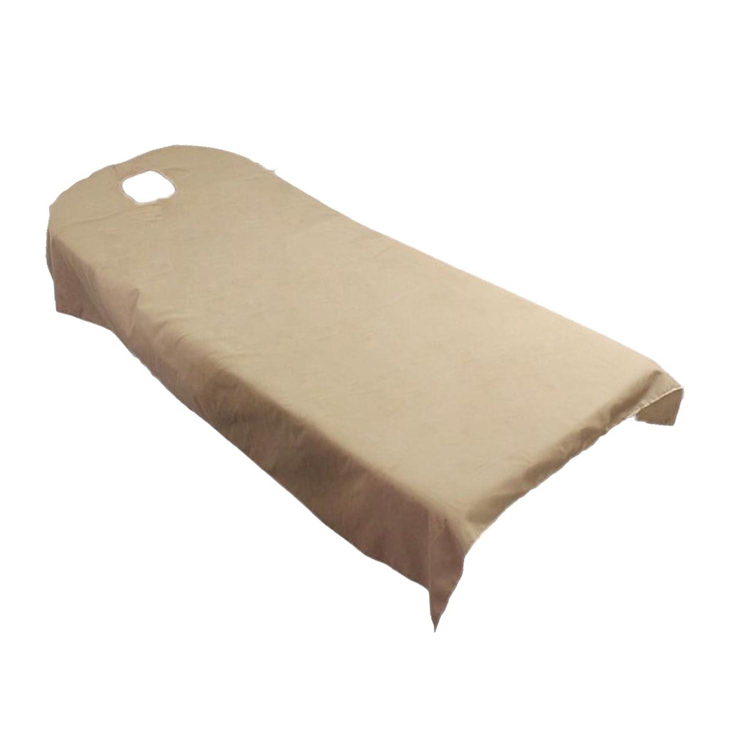 多年生白い物足りないBaosity タオル地 ベッドカバー ソファーカバー シート 面部の位置 ホール付き 美容/マッサージ/SPA 用 9色選べる - キャメル