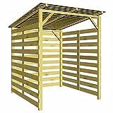 Questo robusto capanno da giardino in legno, dotato di tetto, è una struttura comoda e ideale per riporre una vasta gamma di articoli da giardino, come legna da ardere, attrezzi da giardino di grandi dimensioni, mobili da giardino o qualsiasi altro o...