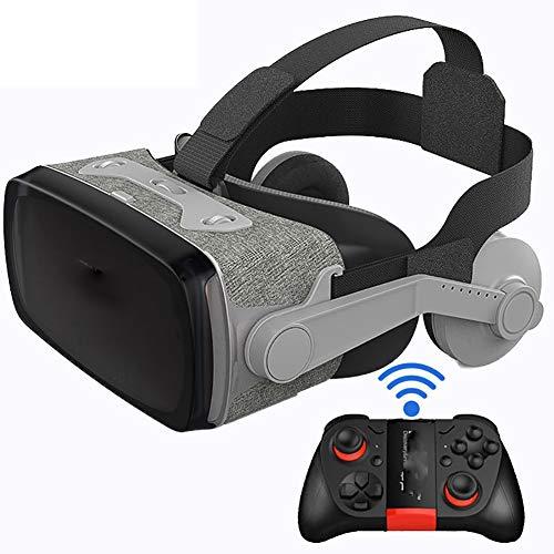 Lcme Virtual Reality VR Headset 3D-Brille mit Fernbedienung, 360-Grad-Fesselnde Filme und Spiele Anti-Blau-Lichtgläser Stereo-Headset für alle Smart Phones