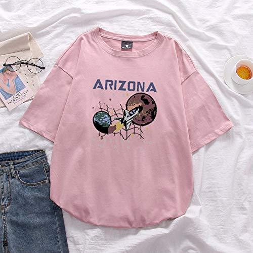 JFCDB T-Shirt d'été,Été Aquarelle Talons Hauts Chaussures Imprimer Vogue Femmes T-Shirts Fun T Shirt Street Tshirt, 11751, XXL