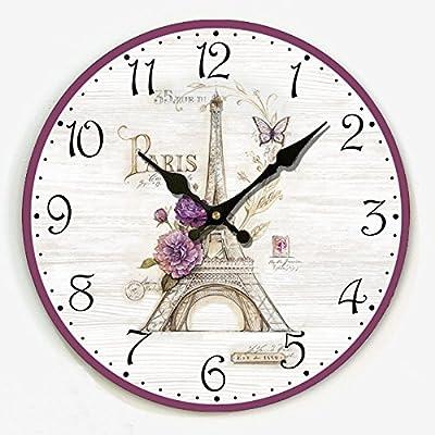 LPD Wall Clock European Country Retro Wall Charts Living Room Cafe Creative Wall Clock Wall Watch