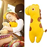 auvstar Auto Protezione per Cintura di Sicurezza, Spallina Imbottita, Sicurezza in Auto per Bambini e Adulti,Cuscino Spalla Cuscino Cintura, Cuscino Poggiatesta per Viaggi in Auto (Giraffa)