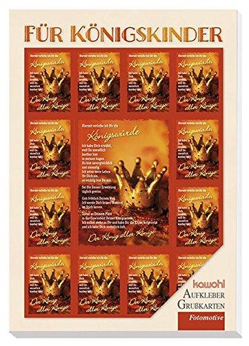 Für Königskinder: Postkartenbuch mit Aufklebern